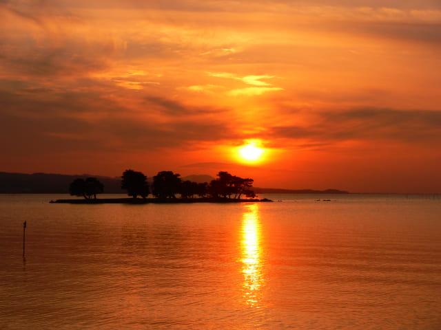 宍道湖的夕阳